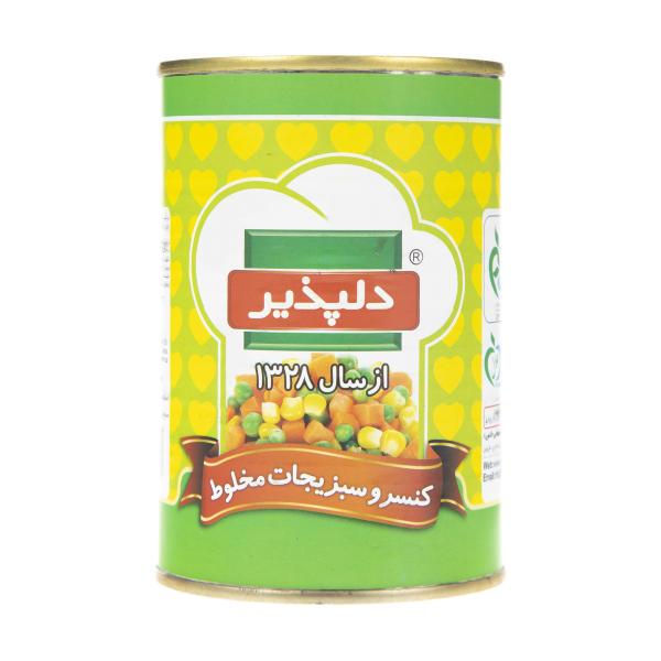کنسرو سبزیجات مخلوط 420 گرم دلپذیر - کنسرو سبزیجات مخلوط 420 گرم دلپذیر