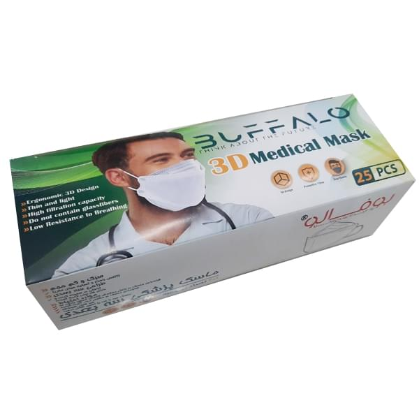 ماسک تنفسی 3 بعدی 25 عددی بوفالو BUFFALO - ماسک تنفسی 3 بعدی 25 عددی بوفالو BUFFALO