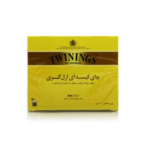 چای سیاه کیسه ای 50 تایی ارل گری تووینینگز - چای سیاه کیسه ای 50 تایی ارل گری تووینینگز