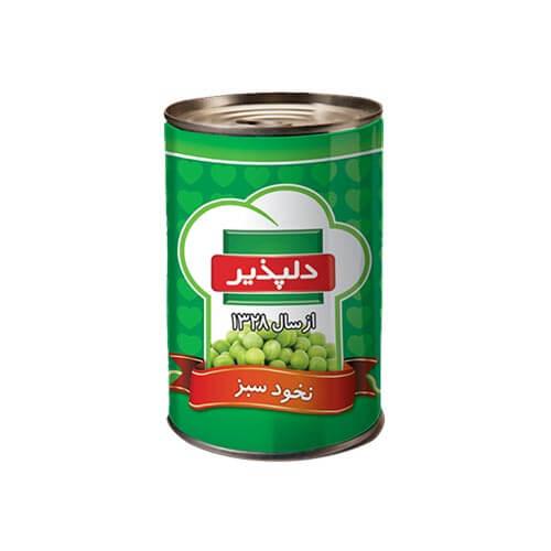 کنسرو نخود سبز 420 گرم دلپذیر - کنسرو نخود سبز 420 گرم دلپذیر