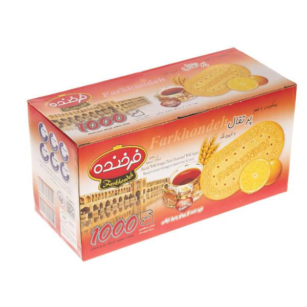 بسکویت جعبه ای فرخنده با طعم پرتقال و شکر - بسکویت جعبه ای فرخنده با طعم پرتقال و شکر
