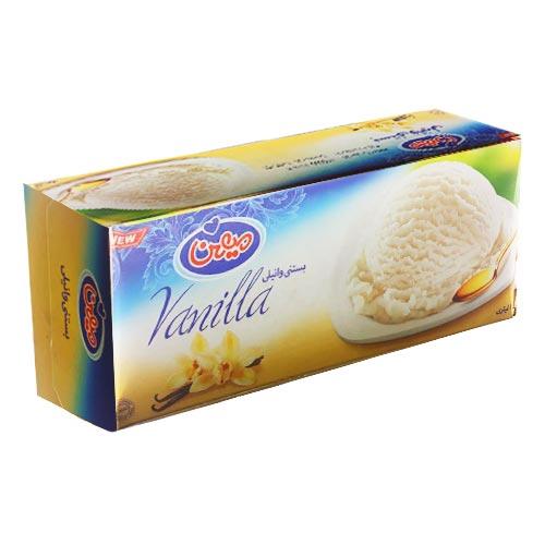 بستنی وانیلی میهن ۱ لیتری  - بستنی وانیلی میهن ۱ لیتری