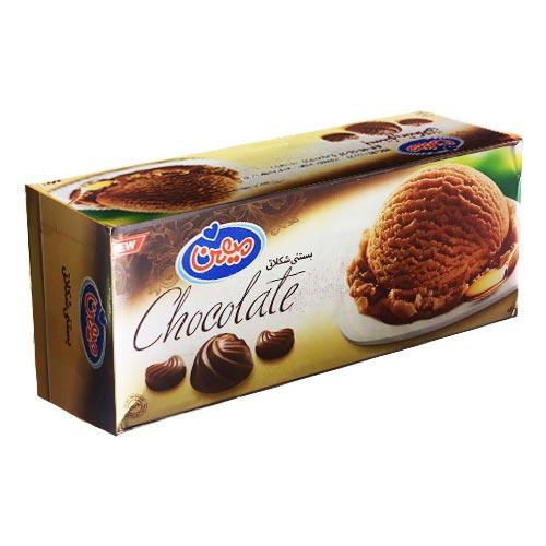 بستنی کاکائویی میهن ۱ لیتری - بستنی کاکائویی میهن ۱ لیتری