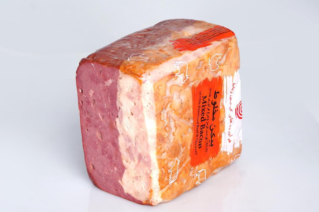 کالباس بیکن گوشت و مرغ 90 درصد رباط مقدار 250 گرم - کالباس بیکن گوشت و مرغ 90 درصد رباط مقدار 250 گرم