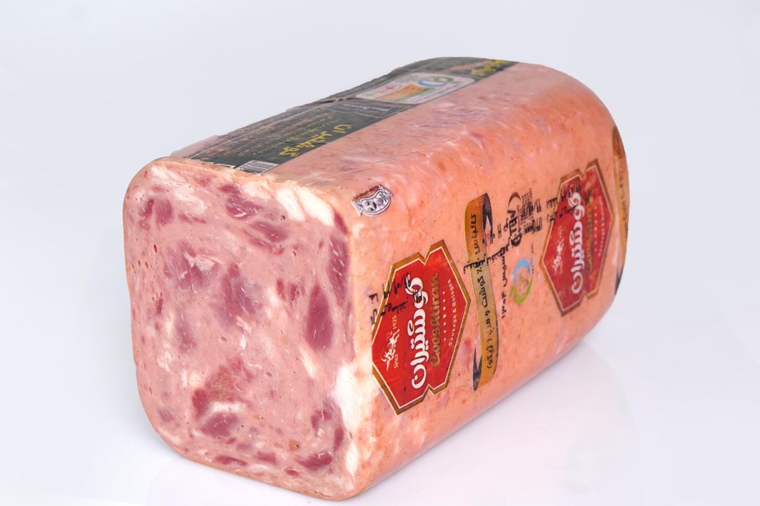 کالباس ژامبون ژیگو گوشت و مرغ 90 درصد گوشتیران مقدار 250 گرم - کالباس ژامبون ژیگو گوشت و مرغ 90 درصد گوشتیران مقدار 250 گرم