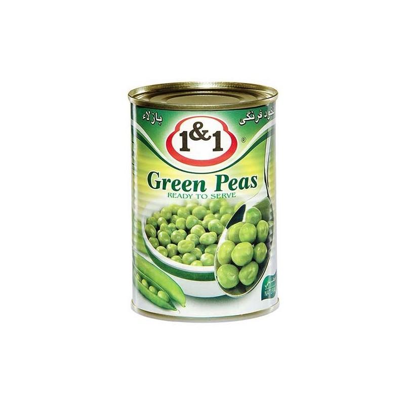 کنسرو نخود سبز 370 گرم یک و یک - کنسرو نخود سبز 370 گرم یک و یک