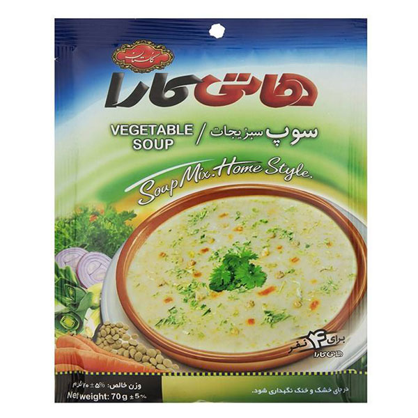 سوپ سبزیجات 70گرم هاتی کارا - سوپ سبزیجات 70گرم هاتی کارا