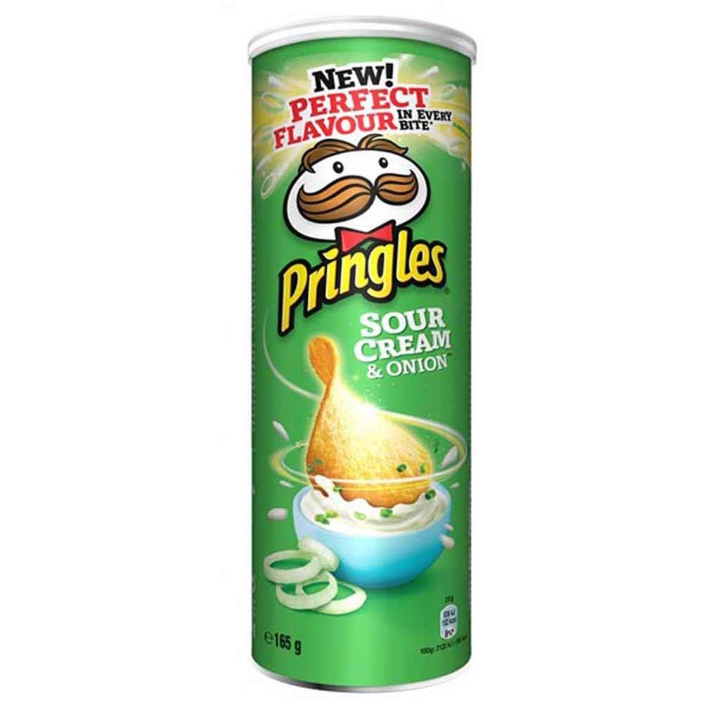 چیپس پرینگلز 165 گرمی پیازوخامه - چیپس پرینگلز 165 گرمی پیازوخامه