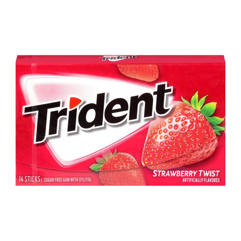 آدامس تریدنت توت فرنگی 14 عددی - آدامس تریدنت توت فرنگی 14 عددی
