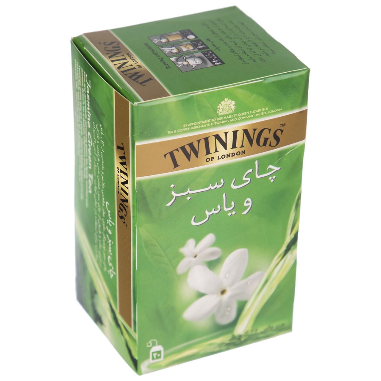 چای سبز و یاس کیسه ای 20عددی توینینگز - چای سبز و یاس کیسه ای 20عددی توینینگز