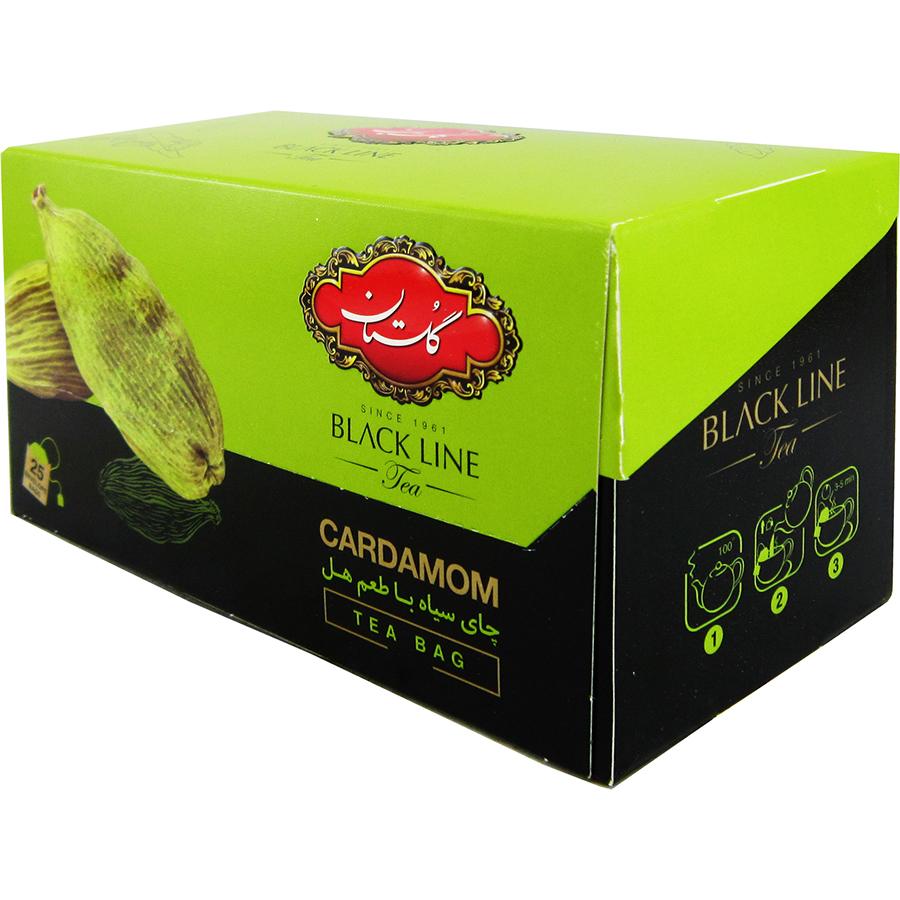 چای سیاه با طعم هل کیسه ای 25عددی گلستان - چای سیاه با طعم هل کیسه ای 25عددی گلستان