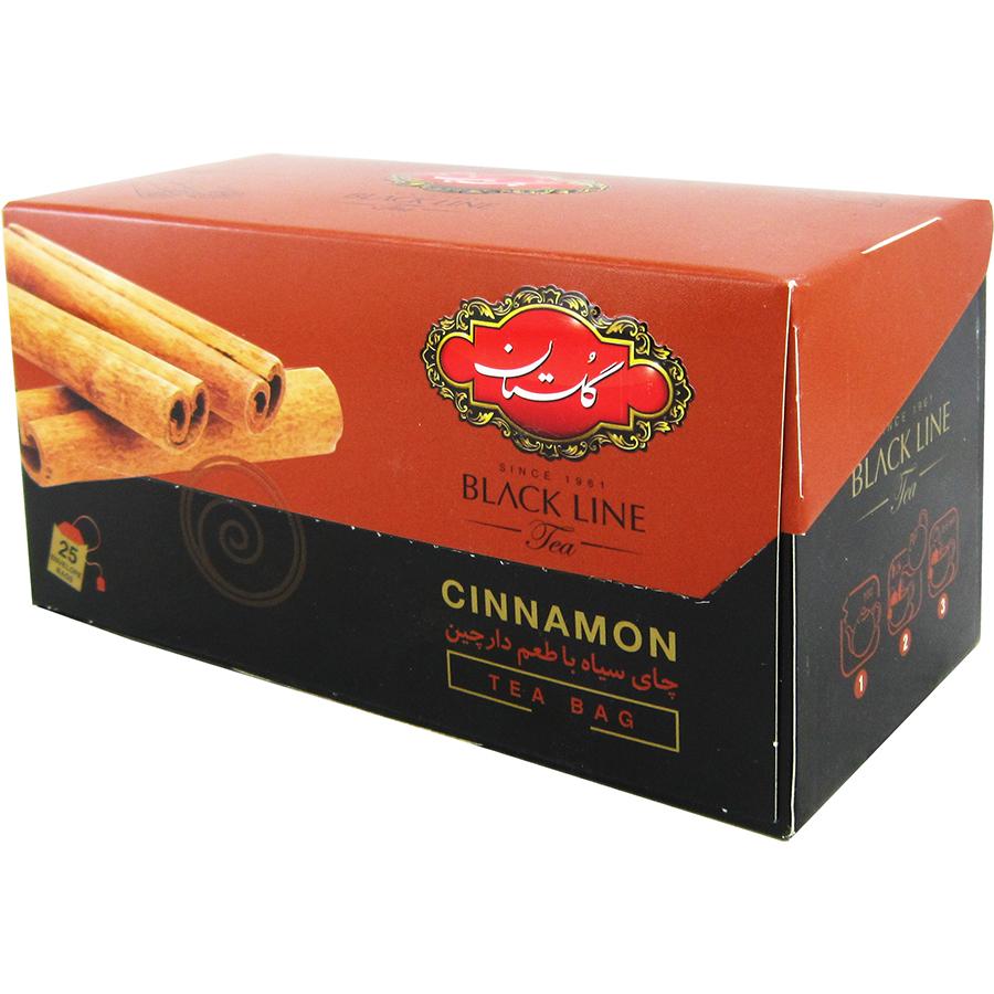 چای سیاه با طعم دارچین کیسه ای 25عددی گلستان - چای سیاه با طعم دارچین کیسه ای 25عددی گلستان