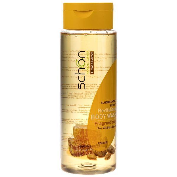 شامپو بدن بادام و عسل 420 میل شون  - شامپو بدن شون مدل Almond And Honey حجم 420 میلی لیتر