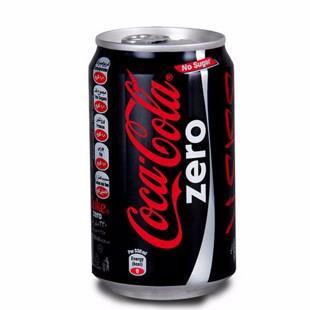 نوشابه زیرو قوطی 330 سی سی کوکاکولا - نوشابه زیرو قوطی 330 سی سی کوکاکولا