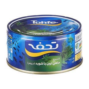 کنسرو  تن ماهی  با شوید 180g تحفه - کنسرو  تن ماهی  با شوید 180g