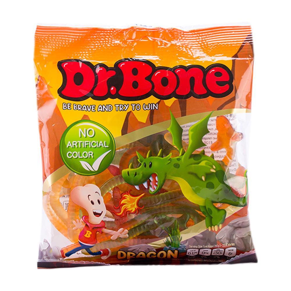 پاستیل اژدها  با رنگ طبیعی دکتر بن DR.Bone -  پاستیل اژدها  با رنگ طبیعی دکتر بن DR.Bone