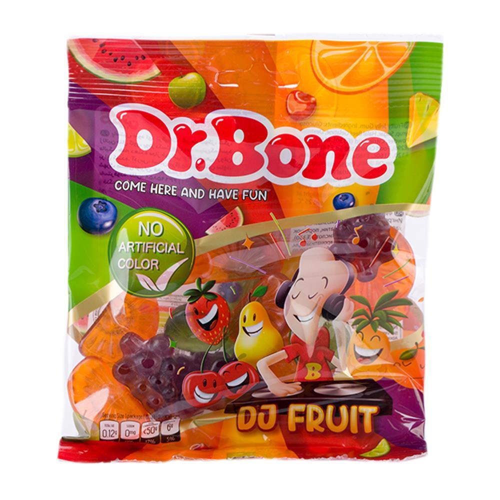 بسته پاستیل میوه ای با رنگ طبیعی دکتر بن DR.Bone - بسته پاستیل میوه ای دکتر بن با رنگ طبیعی