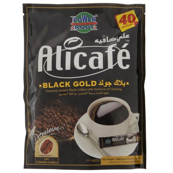 پودر قهوه علی کافه مدل Black Gold بسته 40 عددی - پودر قهوه علی کافه مدل Black Gold بسته 40 عددی