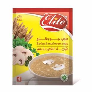 سوپ جو و قارچ 65 گرمی  الیت - سوپ جو و قارچ 65 گرمی  الیت
