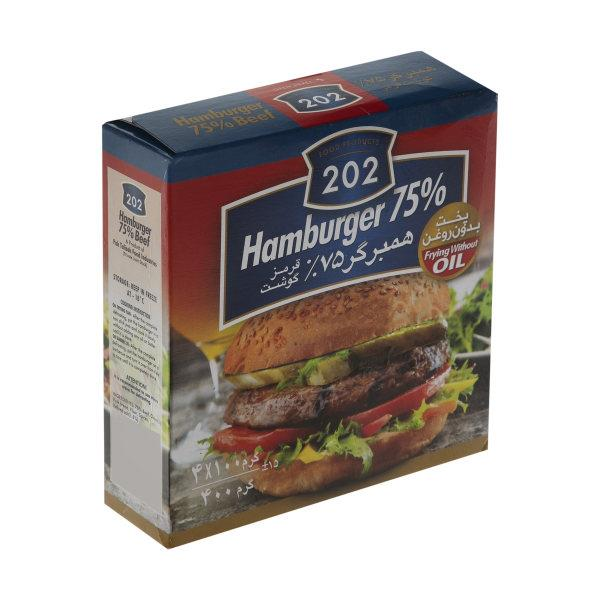 همبرگر 75 درصد گوشت 202 - همبرگر 75 درصد گوشت 202