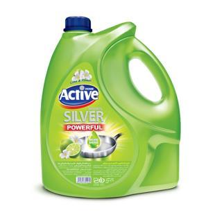 مایع ظرفشویی سیلور سبز 3750 گرمی اکتیو - مایع ظرفشویی سیلور سبز 3750 گرمی اکتیو