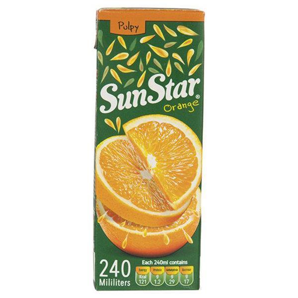 آبمیوه پرتقال سان استار حجم 240 میلی لیتر - آبمیوه پرتقال سان استار حجم 240 میلی لیتر
