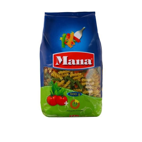 ماکارونی فرمی مته سبزیجات مانا مقدار 500 گرم - ماکارونی فرمی مته سبزیجات مانا مقدار 500 گرم