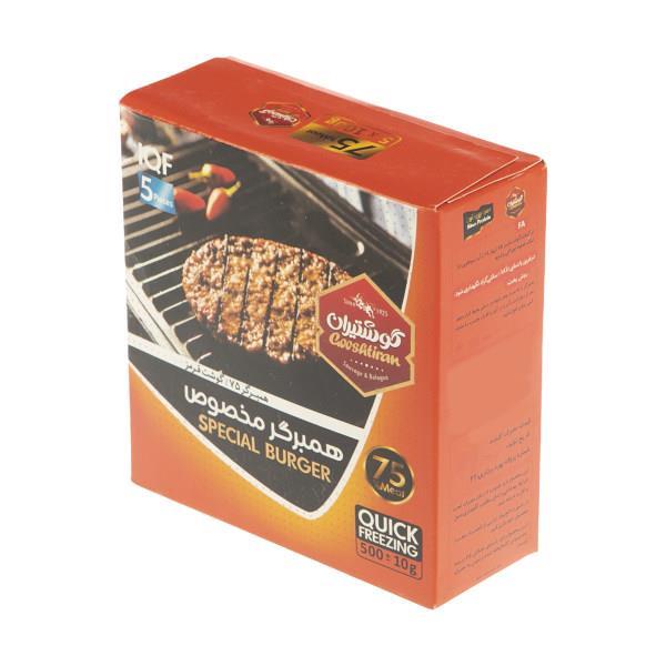 همبرگر مخصوص 75 درصد گوشت گوشتیران - 500 گرم - همبرگر مخصوص 75 درصد گوشت گوشتیران - 500 گرم