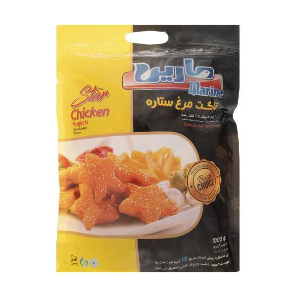 ناگت مرغ 1 کیلوگرم ستاره ای مارین  - ناگت مرغ 1 کیلوگرم ستاره ای مارین