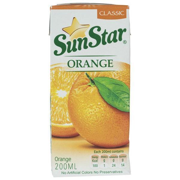نوشیدنی پرتقال سان استار 200 سی سی  - نوشیدنی پرتقال سان استار 200 سی سی