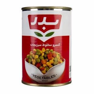 کنسرو مخلوط سبزیجات 430 گرم بدر - کنسرو مخلوط سبزیجات 430 گرم بدر