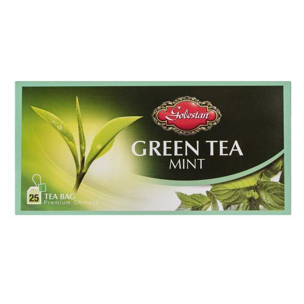 چای سبز کیسه ای با طعم نعناع بسته 25 عددی - چای سبز کیسه ای با طعم نعناع بسته 25 عددی