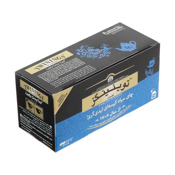 چای سیاه کیسه ای تویینینگز  لیدی گری پک 25 عددی - چای سیاه کیسه ای تویینینگز  لیدی گری پک 25 عددی