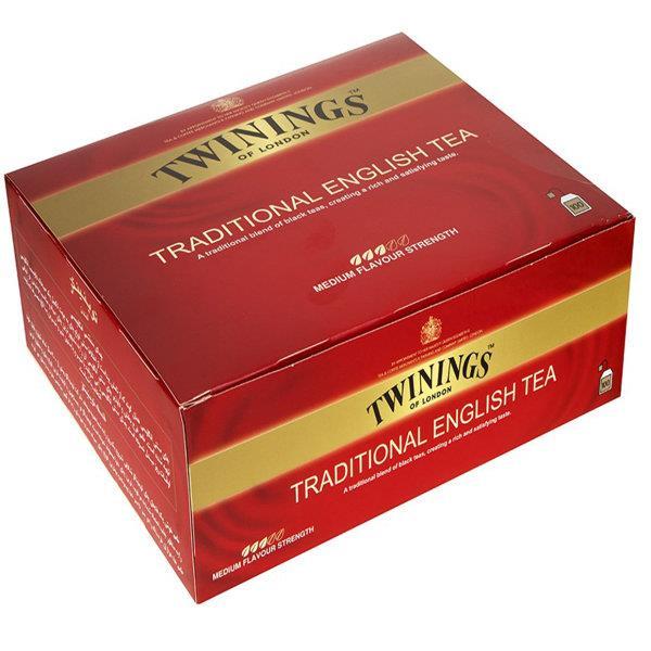چای سیاه کیسه ای توینینگز سنتی انگلیسی بسته 100 عددی - چای سیاه کیسه ای توینینگز سنتی انگلیسی بسته 100 عددی