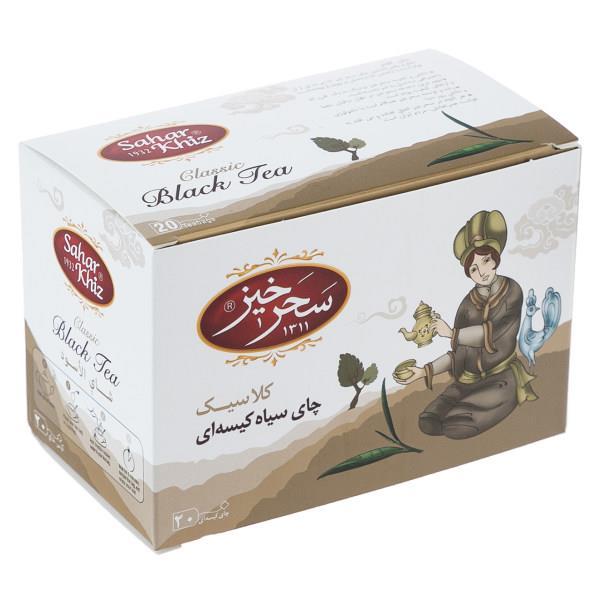 چای سیاه کیسهای کلاسیک سحرخیز بسته 20 عددی - چای سیاه کیسهای کلاسیک سحرخیز بسته 20 عددی
