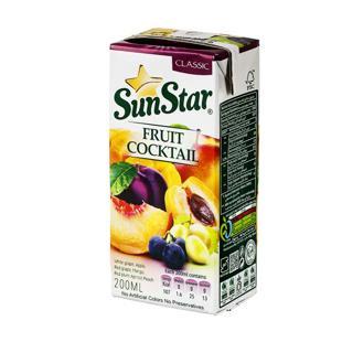 نوشیدنی هفت میوه کلاسیک 200 سی سی سان استار - نوشیدنی هفت میوه کلاسیک 200سی سی سان استار