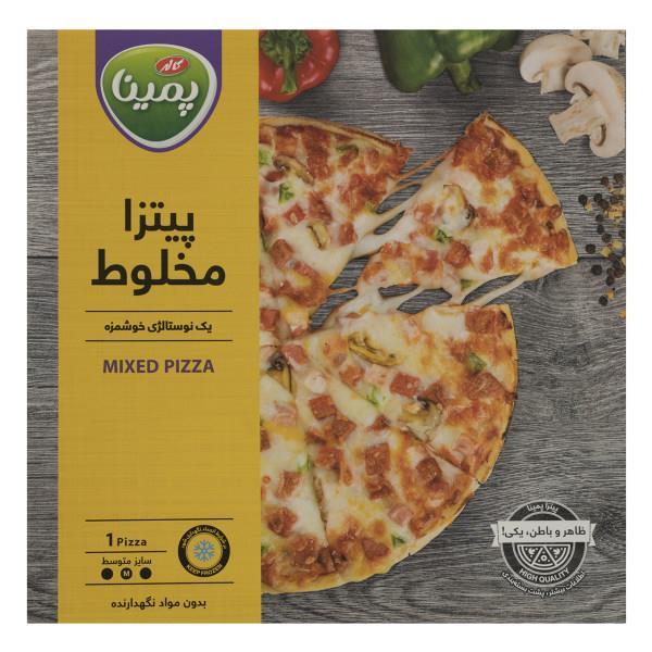 پیتزا مخلوط 450 گرم پمینا  - پیتزا مخلوط 450 گرم پمینا