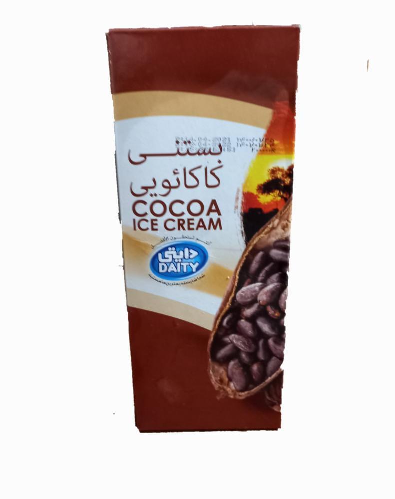 بستنی کاکائویی پاکتی  یک لیتری  دایتی - بستنی کاکائویی یک لیتری دایتی