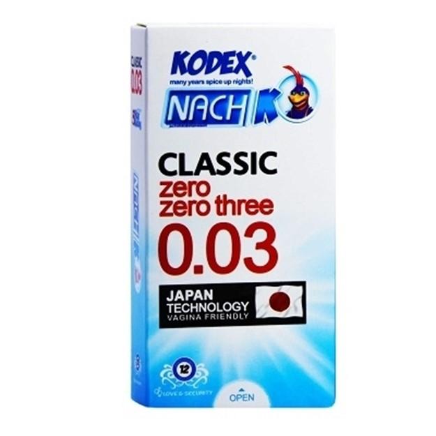 کاندوم کلاسیک 0.03 ناچ کدکس 10 عددی - کاندوم کلاسیک 0.03 ناچ کدکس 10 عددی
