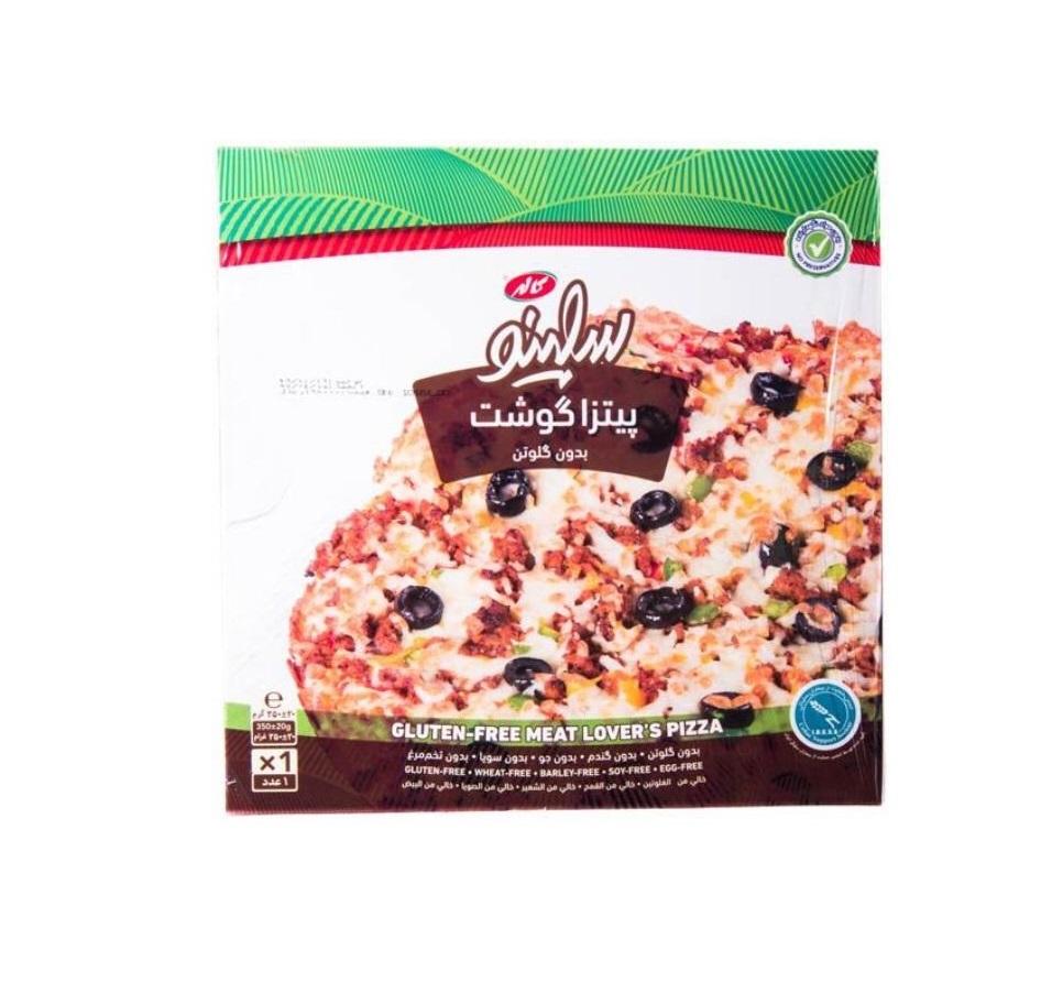 پیتزا گوشت بدون گلوتن 350 گرمی سلینو کاله - پیتزا گوشت بدون گلوتن 350 گرمی سلینو کاله