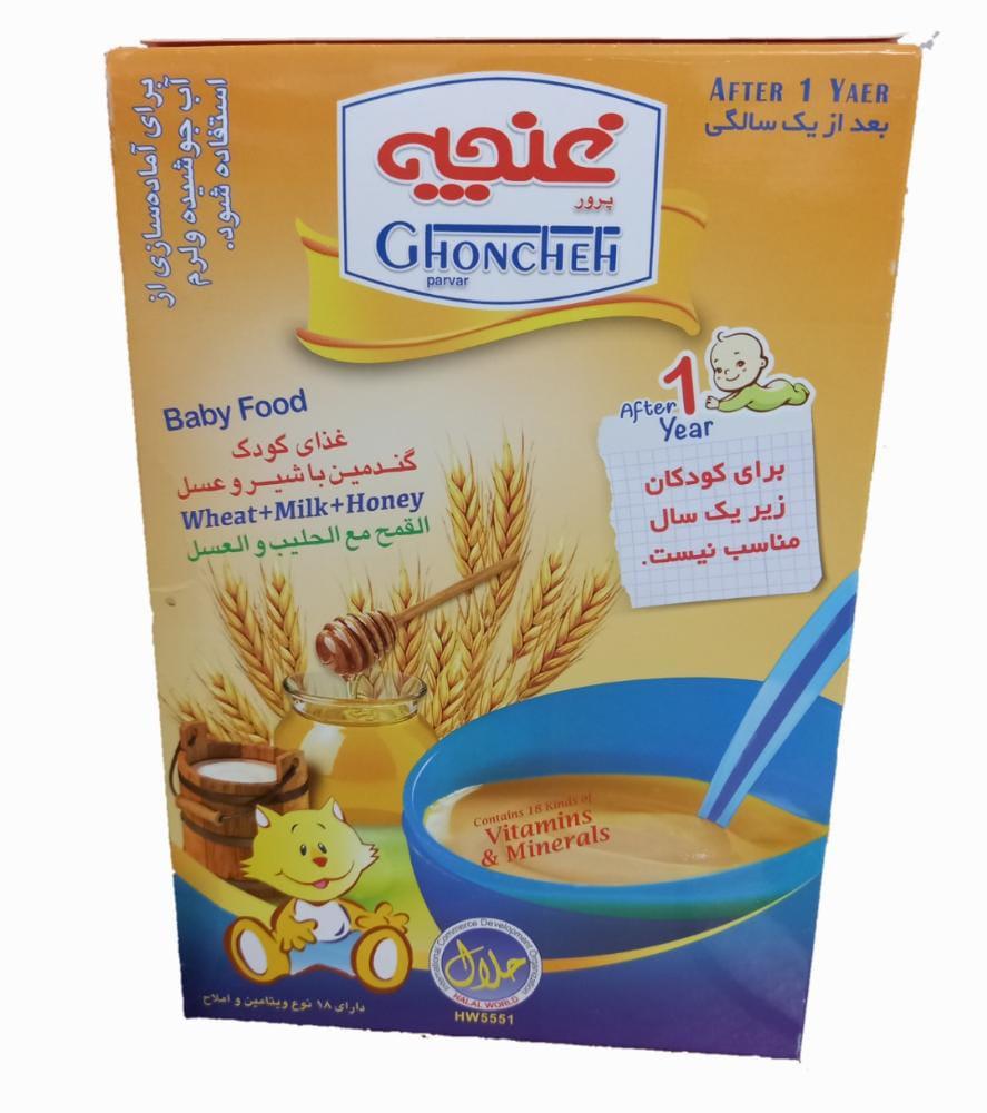 غذای کودک 250g گندمین با شیر و عسل غنچه - غذای کودک 250g گندمین با شیر و عسل غنچه