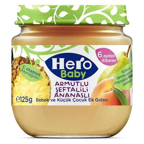 پوره چند میوه 125 گرم Hero Baby - پوره چند میوه 125 گرم Hero Baby