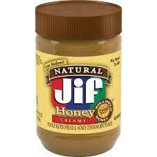 کره بادام زمینی جیف Jif مدل Honey Creamy - کره بادام زمینی جیف Jif مدل Honey Creamy