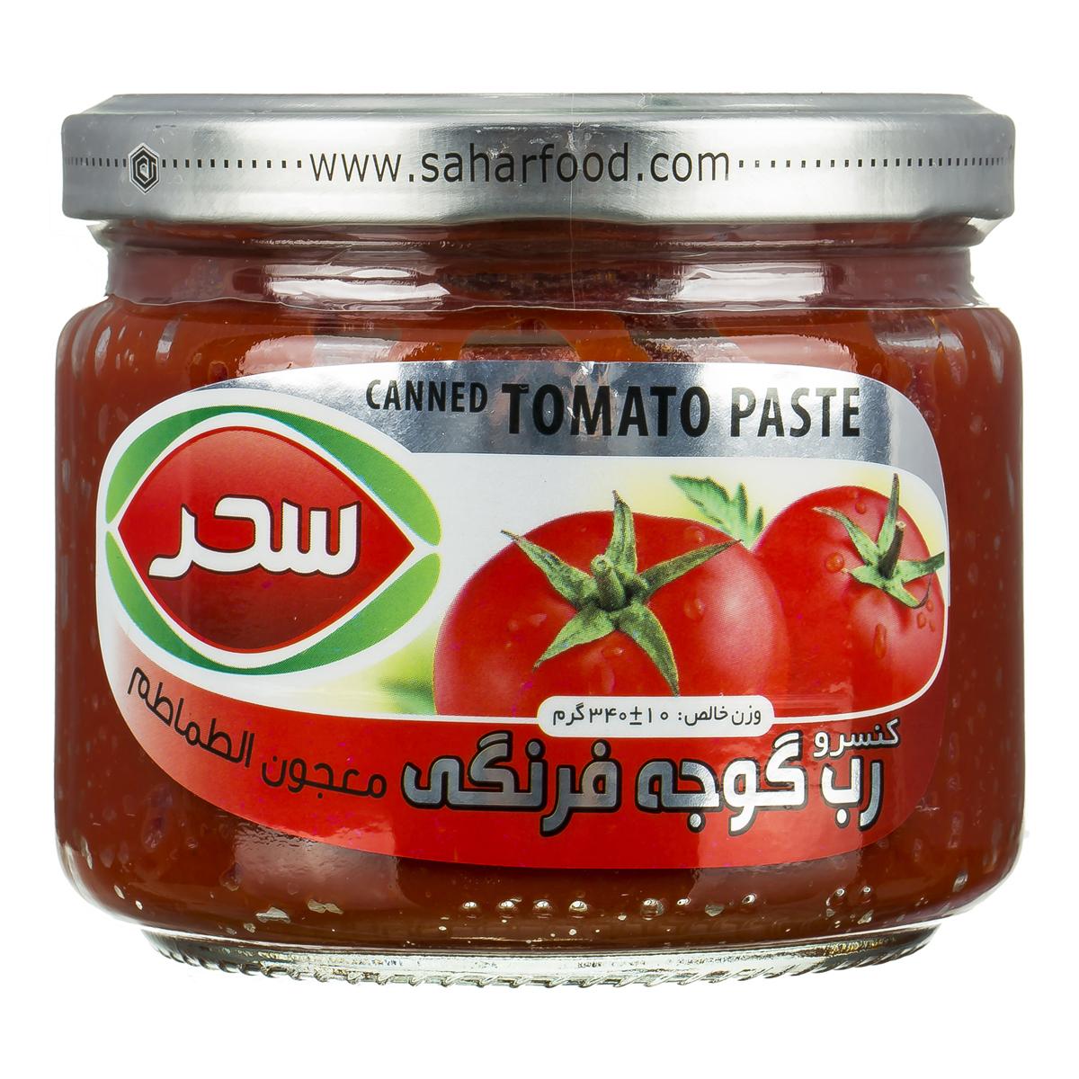 رب گوجه شیشه ای 350 گرمی سحر - رب گوجه شیشه ای 350 گرمی سحر