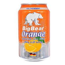 نوشابه گازدار پرتقالی قوطی 330ML بیگ بیر - نوشابه گازدار پرتقالی قوطی 330ML بیگ بیر
