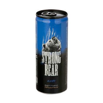 نوشابه انرژی زا بلوبری  250 میل STRONG BEAR - نوشابه انرژی زا 250 میل STRONG BEAR