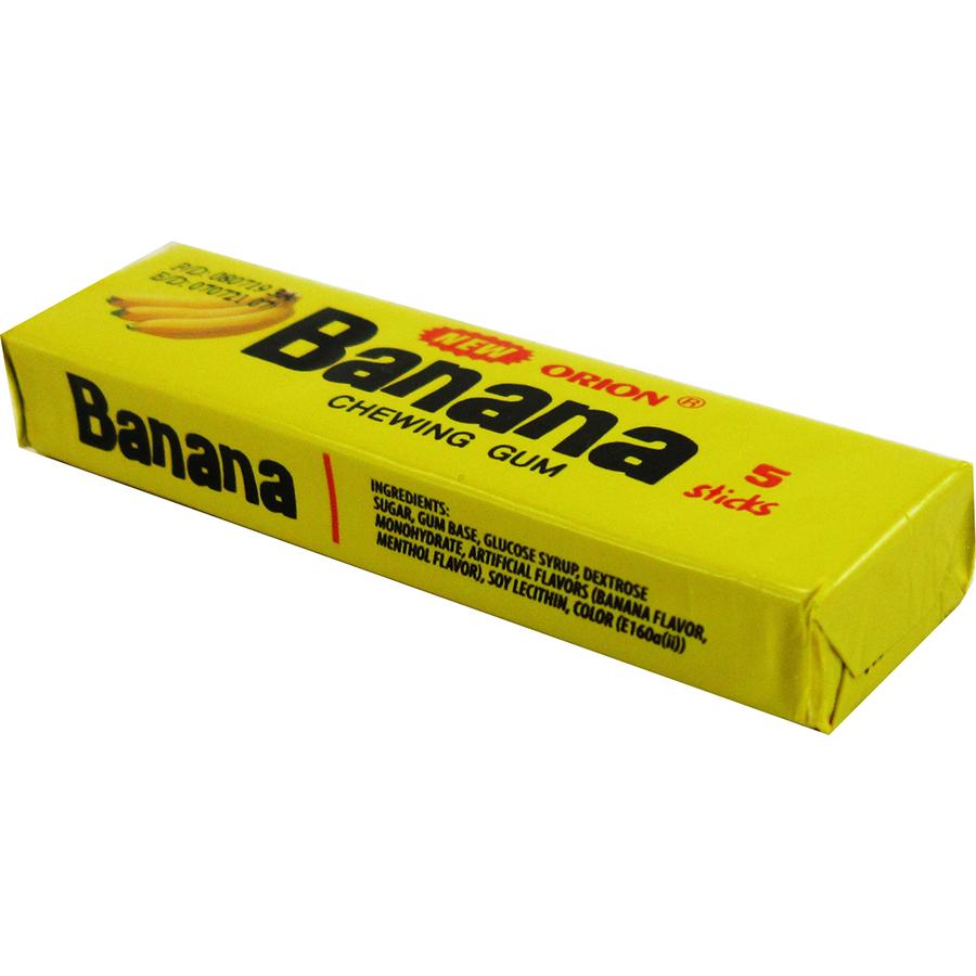 آدامس موزی اصلی Banana ORION GUM بسته 5 عددی - آدامس موزی اصلی Banana ORION GUM بسته 5 عددی