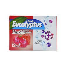 آبنبات سرد توت فرنگی حاوی اسانس اکالیپتوس و ویتامین C سیم سیم (SIM SIM) - آبنبات سرد توت فرنگی حاوی اسانس اکالیپتوس و ویتامین C سیم سیم (SIM SIM)
